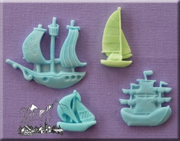 Ships and Boats Silicone Mould