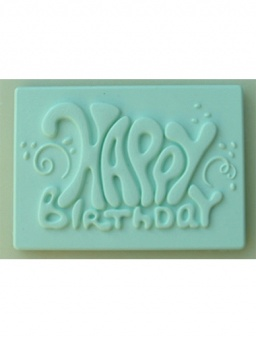 Happy Birthday Plaque Silicone Mould