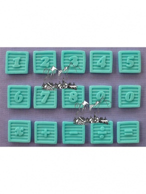 Baby Block Numbers Silicone Mould