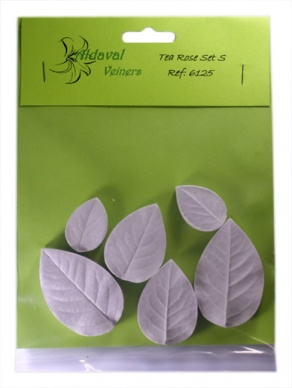 Tea Rose Leaf Veiner Small Set