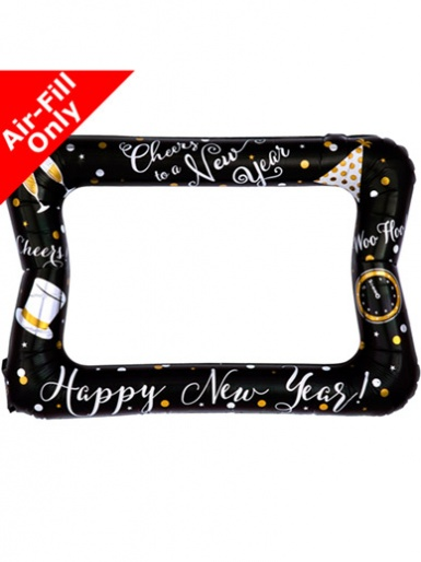 New Year Inflatable Selfie Frame Air Fill Balloon - 23'' Foil