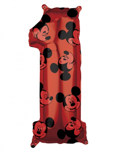 Number 1 - Mickey Mouse Balloon  - 26'' Foil