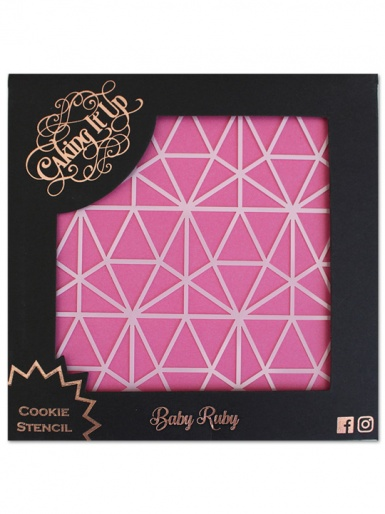 Caking it Up - Cookie Stencil - Baby Ruby