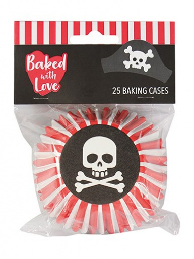 Pirate - Baked with Love Foil Lined Baking Cupcake Cases - Pack 25