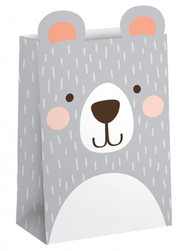 Birthday Bear Treat Bags - Pack of 8
