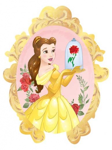 SuperShape - Disney Princess - Belle with Rose Balloon - 31'' Foil