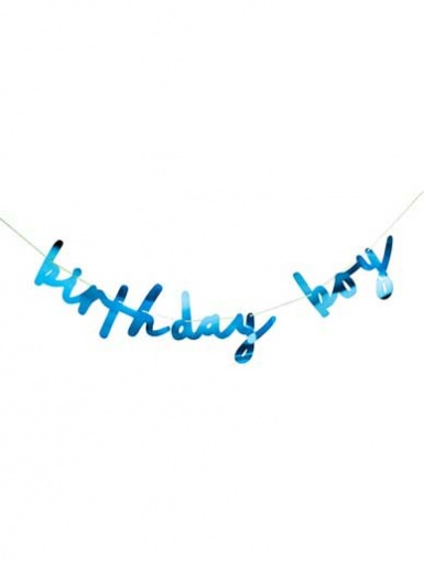 Birthday Boy Banner - Blue