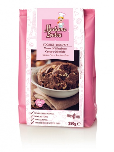 Madame Loulou - Cookies - Biscotti - Cocoa & Hazelnut 350g