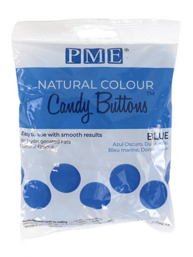 Candy Buttons - NATURAL COLOUR BLUE 200g (7oz)