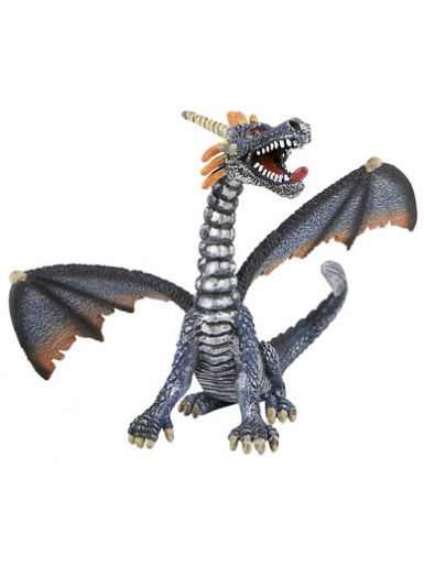 Blue & Silver Dragon Cake Topper / Figurine