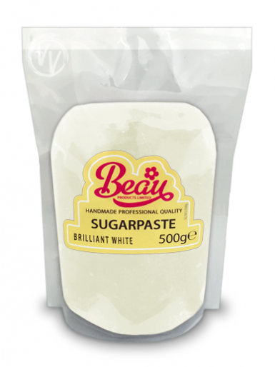 Beau Brilliant White Sugarpaste 500g