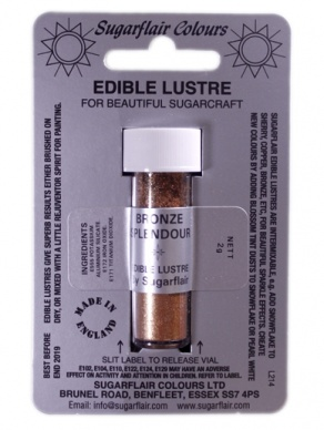 Sugarflair BRONZE SPLENDOUR Edible Lustre Dust Powder