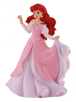 Ariel in Pink Dress from ''The Little Mermaid'' - Cake Topper / Figurine