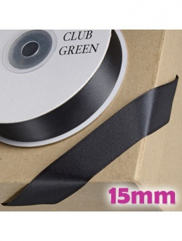 Double Sided Satin Ribbon 15mm Black