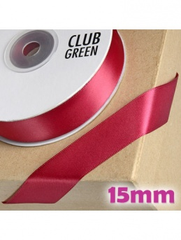 Double Sided Satin Ribbon 15mm Burgundy
