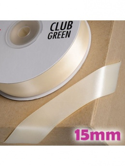 Double Sided Satin Ribbon 15mm Cream