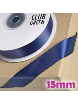 Double Sided Satin Ribbon 15mm Navy Blue