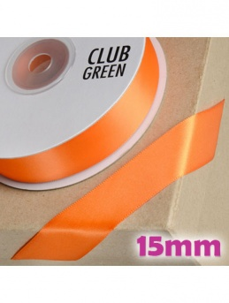 Double Sided Satin Ribbon 15mm Orange