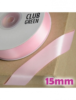 Double Sided Satin Ribbon 15mm Pink