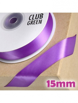 Double Sided Satin Ribbon 15mm Purple