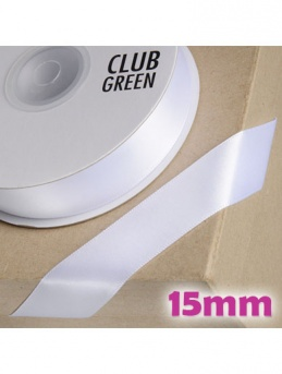 Double Sided Satin Ribbon 15mm White
