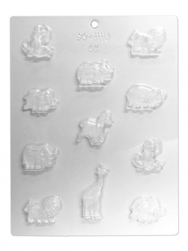 Zoo Animals Chocolate & Candy Mould