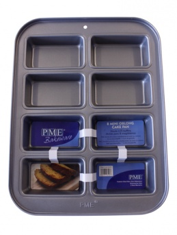 Non Stick 8 Mini Oblong Cake Pan by PME
