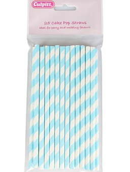 Cake Pop Sticks - Blue Candy Stripe 25 piece