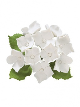 White Hydrangea Bunch - 80mm x 85mm