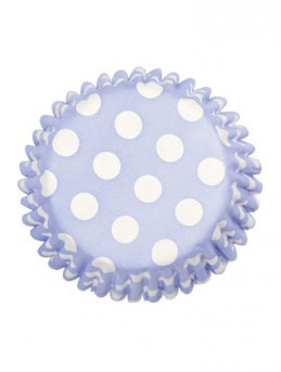 China Blue Polka Dot Baking Cases 54 pack