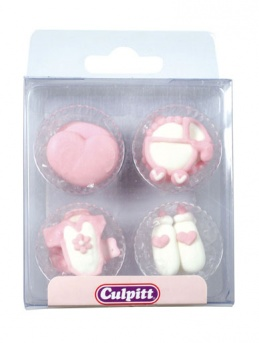 Girls Christening Edible Decorations