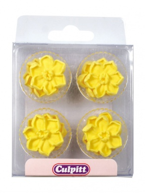 Daffodil Flower Sugar Pipings Edible Decorations
