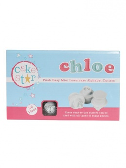 Cake Star Push Easy Cutters - Mini Lowercase Alphabet Cutters