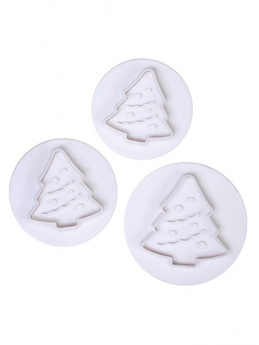 Cake Star Plunger Cutters Set of 3 - Christmas Tree