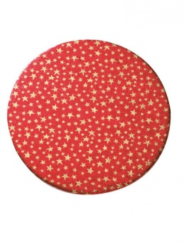 10'' Christmas Stars Double Thick Round Cake Card