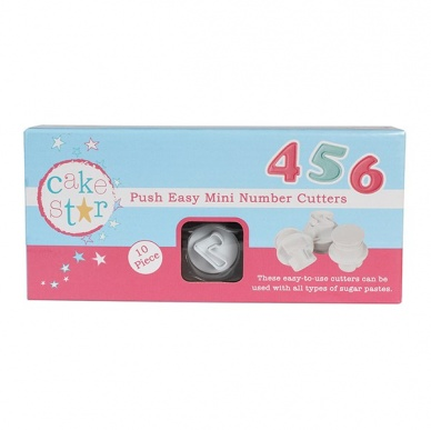 Cake Star Push Easy Cutters - MINI NUMBERS