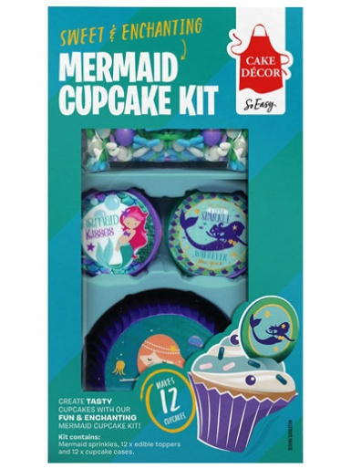 Cake Décor Mermaid Cupcake Decorating Kit