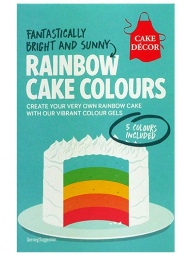 Cake Décor Rainbow Cake Colours - Set of 5