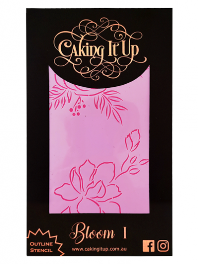 Caking It Up - Outline Stencil - Bloom II