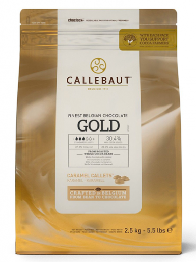 Callebaut Chocolate Callets 2.5kg - Gold Caramel