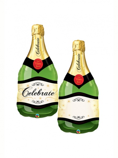 Celebrate Champagne Bottle Balloon - 39'' Foil