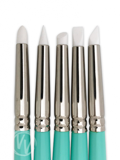 Cerart Tiffany Silicone Tip Brushes - Set of 5