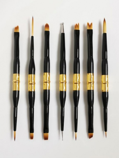 Cerart Jewel Set - 7 Double Tip Brushes in Case