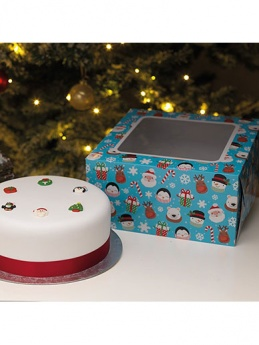 Christmas Children's Cake Box and Cake Card Combo 10''