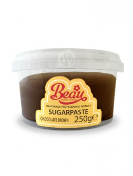 Beau Chocolate Brown Sugarpaste 250g