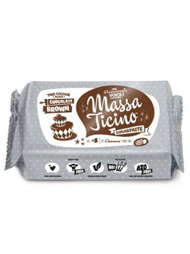 Chocolate Brown Massa Ticino Sugarpaste 250g