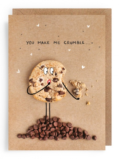 Chocolate Chip Cookies (crumble) - Valentines Card