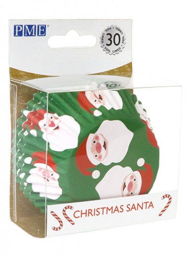 PME Christmas Santa Foil Lined Cupcake Cases - Pack of 30
