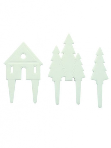 Nordic Scene Gum Paste Pics - Set of 3 pieces