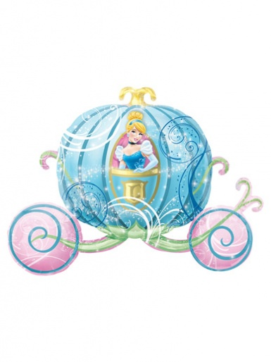 SuperShape - Disney Princess - Cinderella Carriage Balloon - 33'' Foil